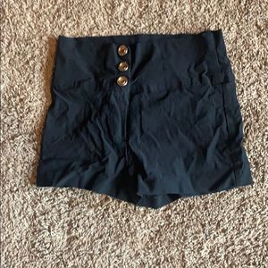 High waisted black shorts that fit like a small